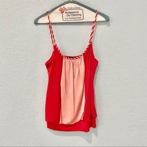 Bebe Red and Pink Tank Top